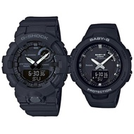 【CASIO 卡西歐】G-SHOCK X BABY-G 時尚運動對錶-黑(GBA-800-1A+BSA-B100-1A)