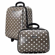 BagsMarket กระเป๋าเดินทาง Wheal กระเป๋าเดินทางเซ็ทคู่ 18/14 นิ้ว Code 60018-4 B-Point (Grey)