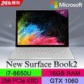 ◤福利品◢Microsoft 微軟Surface Book2 HNR-00019(i7-8650U/16G/256G PCIe SSD/GTX1060-6G/W10P)