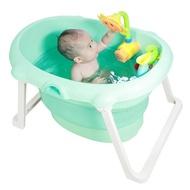 寶寶洗澡盆新生嬰兒可坐躺折疊桶幼兒游泳家用