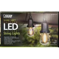 美兒小舖COSTCO好市多代購~FEIT 48呎LED燈串/48呎24燈座裝飾燈串-附26顆LED仿鎢絲燈泡(1入)
