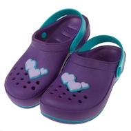【布布童鞋】Rider心心相印紫色兒童布希鞋(I8G825F)