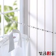 生活采家台灣製304不鏽鋼新式8字環4.5公尺曬衣鍊