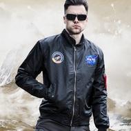軍霆NASA秋冬棉服ma1飛行夾克男女空軍棉衣軍迷飛行員外套戰術