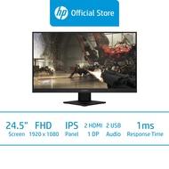 HP Omen 25i Gaming Display Monitor / 24.5 FHD (1920 x 1080) / IPS Display / 1ms MPRT / 165 Hz / AMD FreeSync™ Premium / NVIDIA G-Sync /  On-Screen Control / VESA Mountable / TUV Eyesafe Certified Display / 3 Years Warranty