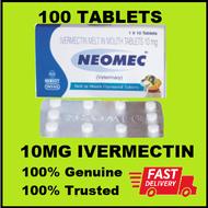 Intas Neomec Ivermectin 10mg (100 tablets) - Neomec Ivermectin Tablets - 100 Tablets - One Hundred Tablets Neomec