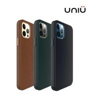 領券最高折800↘UNIU iPhone12系列專用 CUERO 全包皮革保護殼 三色可選