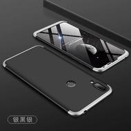 GKK สำหรับ Huawei Y7 2019/Y7 PRIME 2019 กรณี 3 in 1 360 ป้องกันเคสบาง PC สำหรับ huawei Y7 2019/Y7 PRIME 2019 Coque
