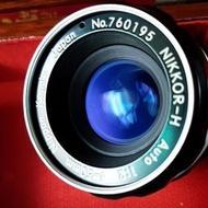Nikon Nikkor-H. Nippon Kogaku Japan 50mm f2 標準定焦鏡(附Aid環)