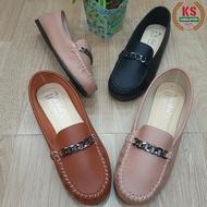 รองเท้าผู้หญิง✙ zhdstheiaczdvdyp [RESTOCK สีดำ🌻พร้อมส่ง รหัส824] รองเท้าคัชชูผู้หญิง คัทชูผู้หญิง รองเท้าใส่ทำงาน พื้นเตี้ย หนังนิ่ม สไตล์โลฟเฟอร์