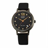 ORIENT 東方錶ELEGANT系列 (FER2H001B)永恆耀眼時尚機械錶 絹布錶帶款 黑色 36mm