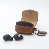 可刻名索尼Sony WF-1000XM4耳機充電盒客制皮革保護套 真皮耳機盒