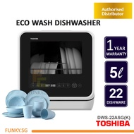 TOSHIBA Countertop 5L Dishwasher 5L Portable Dishwaser  DWS-22ASG(K) - FREE DELIVERY