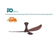 PO ECO 54 CEILING FANS ALBA SERIES With LED Light (CHERRY WOOD)
