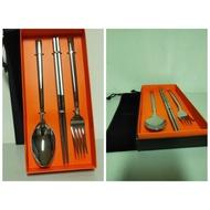 Selene不銹鋼經典隨身餐具組