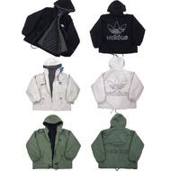 Adidas 三葉草假兩件加厚保暖外套