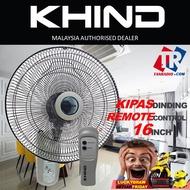 "kipas dinding/ Khind 16""~18"" Remote Control / BASIC Wall Fan KIPAS DINDING KHIND ISONIC MECK"