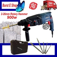 26mm  Rotary hammer Drill More Heavy Duty , More Powerful Have Impact Drill , Screwdriver Function , Not The Bosch , Makita , Worx , Dewalt ,milwaukee ,hitachi ,dong chen ....But Quality And Warranty 6 month By Burst E Shop
