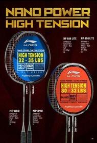 Original Lining Nano Power NP 888 NP888 Lite Raket Badminton - Raket badminton nyamuk listrik yonex lining asli murah bulutangkis rs 2 pcs dewasa 1 set kok olahraga atlit profesional ringan carbon