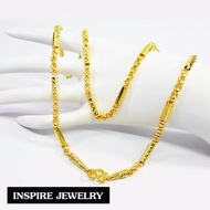 Inspire Jewelry สร้อยคอทอง ทาโร่ต่อลายปล้อง หุ้มทองแท้ 100%  24 นิ้ว  น้ำหนัก 2 บาท  พร้อมถุงกำมะหยี่