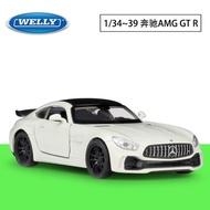 WELLY威利1:36賓士Mercedes-AMG GT R模擬合金汽車模型回力車