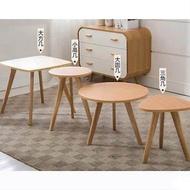 【矮款大圓茶几-60*60*44cm-1張/組】辦公居家時尚簡約實木小茶几沙發邊幾小邊桌-7201012