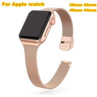 Milanese Loop Strap For Apple Watch Band 40 Mm 38 Mm I Watch Band Series 5/4/3/2/1 40 Mm 38 Mm Metal Stainless Steel Bracelet