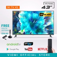 [4K HDR] Xiaomi Mi TV 4S 43 INCH - DVB-T2 LED Smart Android TV (1 Year Warranty) with Google Play Store, Youtube, Chrome, Viomi APK