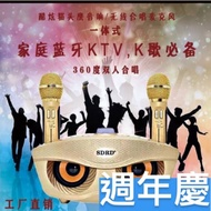 原廠新版麥克風 sdrd SDRD 306貓頭鷹 卡拉OK 雙人對唱 攜帶方便 戶外音響 戶外卡拉OK KTV