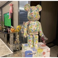 Bearbrick Innersect Graffiti Floral Show 1000% Bear Toy