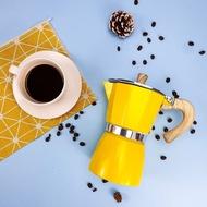 ของแท้ Moka Espresso (สีเหลือง) กาต้มกาแฟ มอคค่าพอท อลูมิเนียม อิตาเลี่ยนHagan 24 Shop0120 เครื่องชงกาแฟ เครื่องชงกาแฟสด เครื่องชงชา เครื่องชงชากาแฟ เครื่องทำกาแฟ