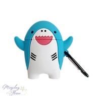 AirPods矽膠耳機套 鯊魚寶寶造型耳機套 藍牙耳機保護套
