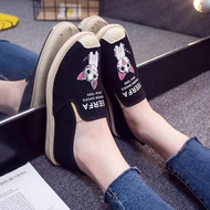 รองเท้าสลิปออน รองเท้าคัชชู รองเท้าผู้หญิงน่ารักสบายใหม่รองเท้าลำลองรองเท้าออกซ์ฟอร์ด 101511
