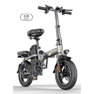 台灣現貨電動車 鋰電池 踏板車 折疊電動自行車代駕電瓶車鋰電池代步小型助力車 vespa 自行車 電動