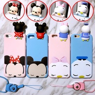 Japanese and Korean female doll minidaixi OPPO R9S R11 silicone phone case R9plus hung neck A59 coup