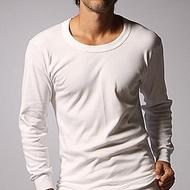 【一品川流】遠紅外線保暖U領男用長袖內衣-白色-4件組