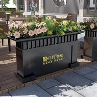 【花箱】售樓部定制鐵藝戶外組合花箱鍍鋅板室外商業街廣場市政花槽花壇