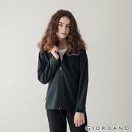 GIORDANO 女裝Softshell 三合一高機能連帽外套 - 03 標誌黑