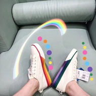 Adidas PRIDE NIZZA 全新配色 adidas三葉草PRIDE NIZZA彩虹鴛鴦拼接底 運動休閒鞋
