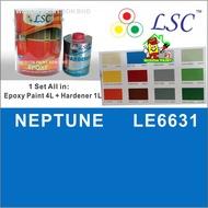 5 Liter ( NEPTUNE LE6631 ) LSC EPOXY Two Pack Epoxy Floor Paint - 4 Liter + 1 Liter = 5L / COATINGS / INTERIOR / EXTERI