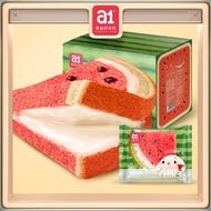 【Ready Stock】a1  Watermelon Sandwich toast 480g 【a1西瓜吐司】小面包整箱早餐懒人食品网红零食儿童营养夹心吐司