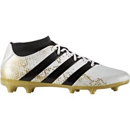 รองเท้าสตั๊ดเด็ก adidas ace 16.3 primemesh fg junior รุ่นรองบ๊วย (สีขาว/ทอง) รองเท้าฟุตบอลเด็ก รองเท้าฟุตบอลอดิดาส รองเท้าฟุตบอลราคาถูก สตั๊ดเด็ก