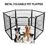 [SG SELLER] Dog Playpen Fence Pets Dogs Cats Rabbit Set Playpen Crate Cage Gate Small Large XL Heavy Metal Fence