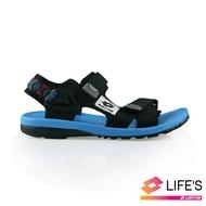 LOTTO樂得義大利第一品牌 大童流行織帶涼鞋 [0260] 黑【巷子屋】