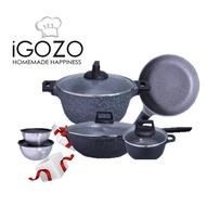 IGOZO Granite Non Stick Family Set
