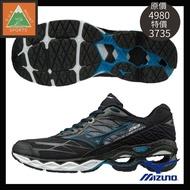 #MIZUNO 美津濃 J1GC190109 男 慢跑鞋WAVE CREATION20(小8)黑/藍