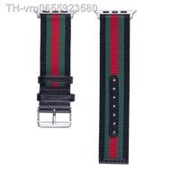 topsale  สายนาฬิกา สาย AppleWatch series 1/2/3/4/5/6 SE 38/40/42/44mm สาย W55 p90 watch 5 6  สายหนัง+ผ้า