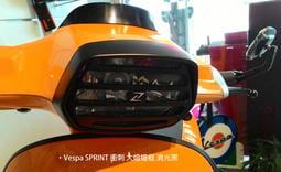 【嘉晟偉士】Vespa 衝刺專用 大燈燈框(消光黑) + Zelioni燈罩(黑) 組合包 Sprint 125.150