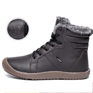 Male Snow Ankle Boots Waterproof Warm Fur Casual Boot Shoes Plus Size 36~48