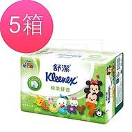 [5箱組]舒潔 棉柔舒適抽取衛生紙100抽X64包/箱-迪士尼Lucky7